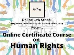 ONLINE CERTIFICATE COURSE ON HUMAN RIGHTS BY KATOG : ENROLLNOW!!!